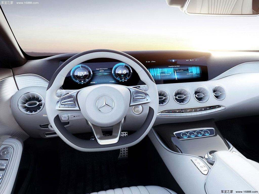 2014款 coupe concept 奔驰s级中控方向盘图