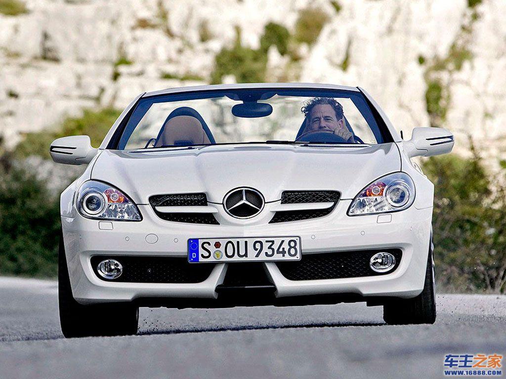 白色 奔驰slk高清图片 奔驰slk级壁纸图片–高清图片