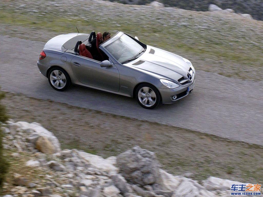 灰色 奔驰slk高清图片 奔驰slk级壁纸图片–高清图片