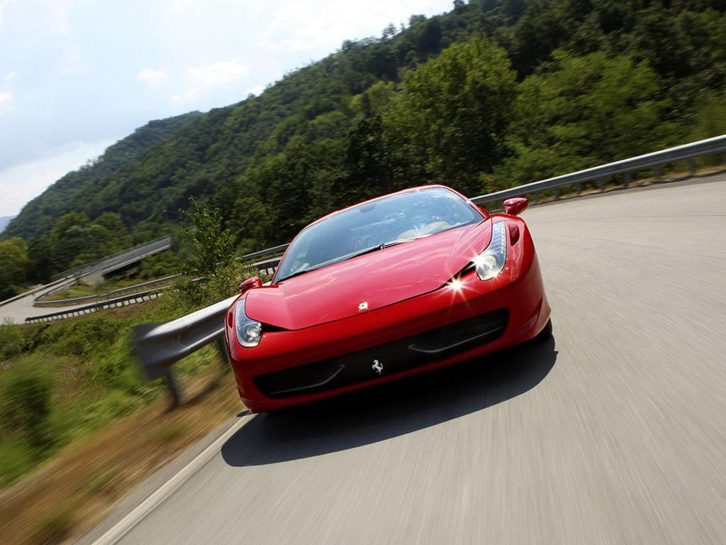 红色法拉利458 italia壁纸高清高清图片