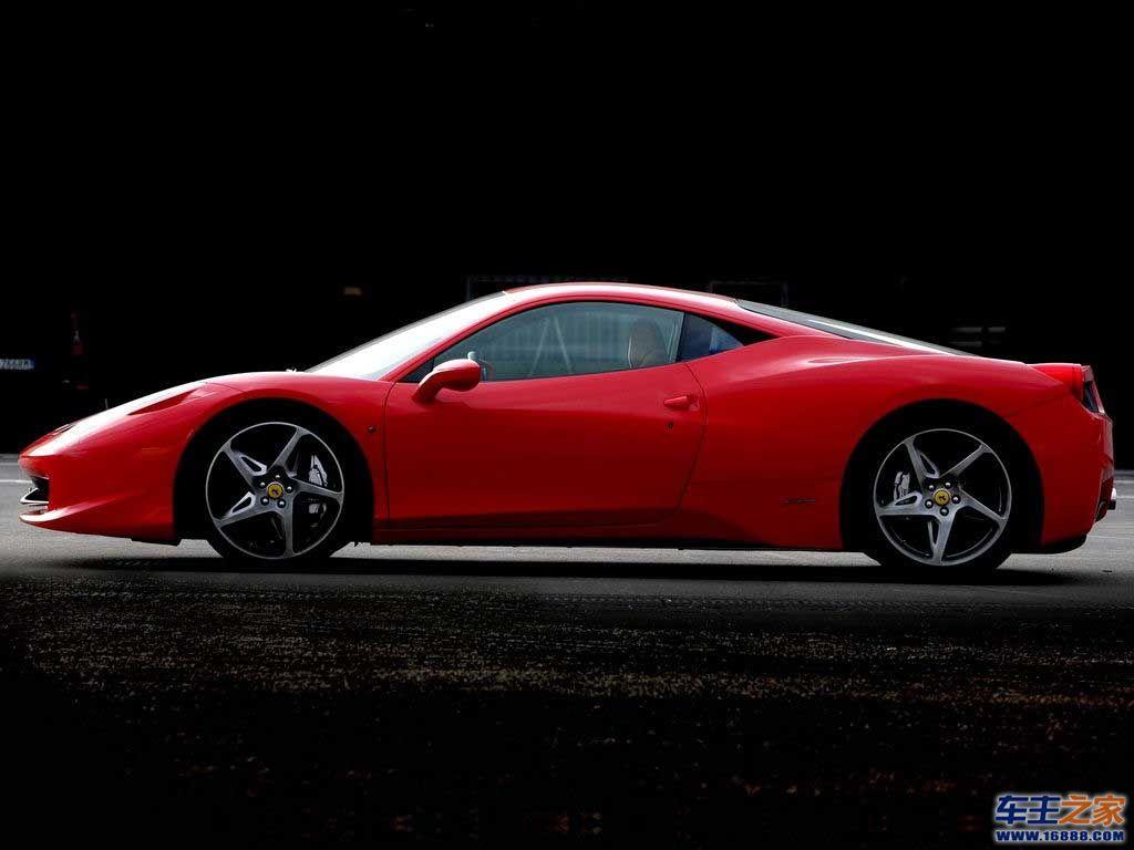 红色 法拉利458 italia高清图片 458 itali