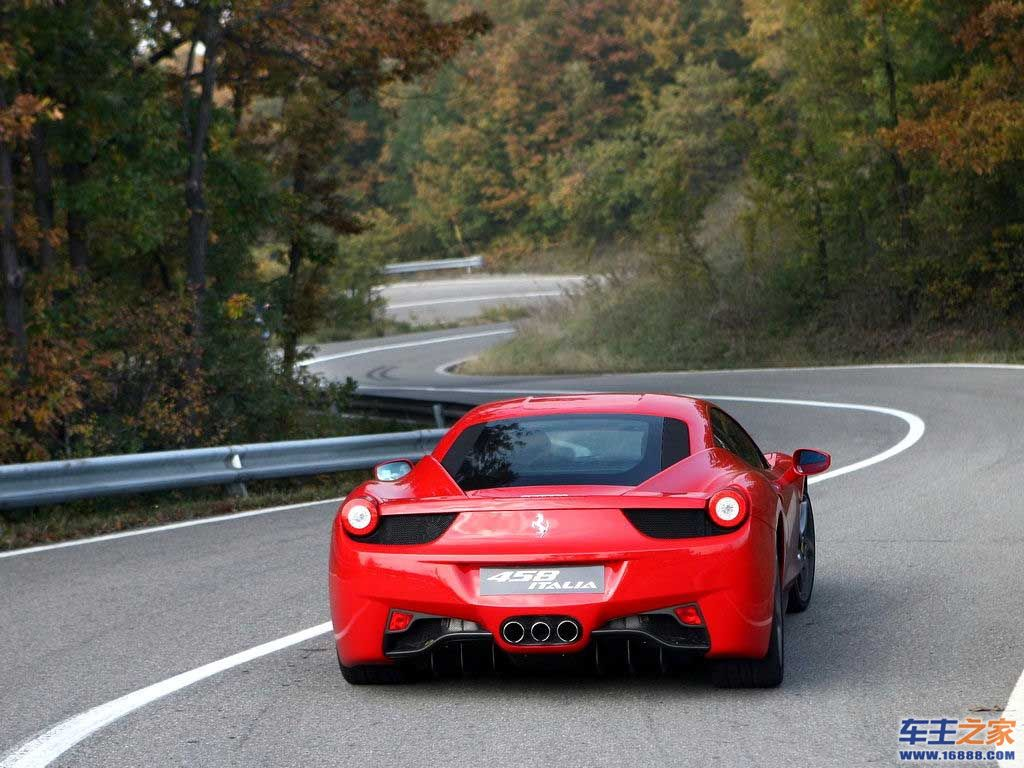红色 法拉利458 italia高清图片 458 italia壁纸图片