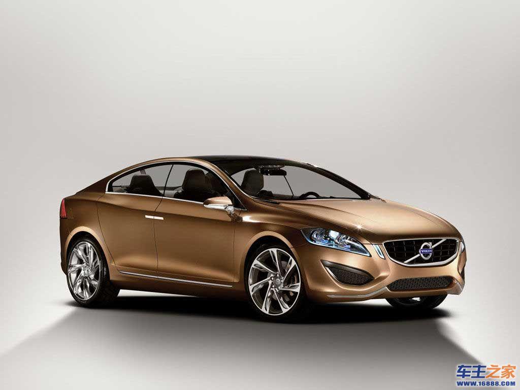 金色volvo概念车侧面图片高清图片