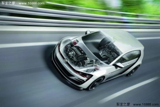 大众发布高尔夫gti概念车 百公里加速3.9秒高清图片