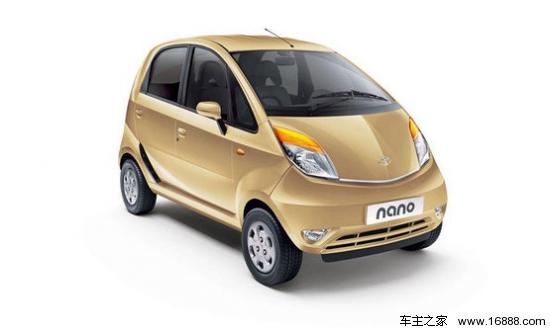 世界最便宜汽车上市 塔塔小改款Nano售1.5万高清图片