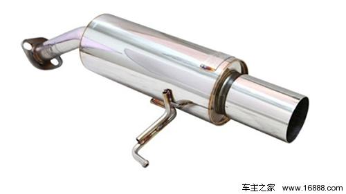 我们对一台铃木北斗星的原厂排气尾鼓