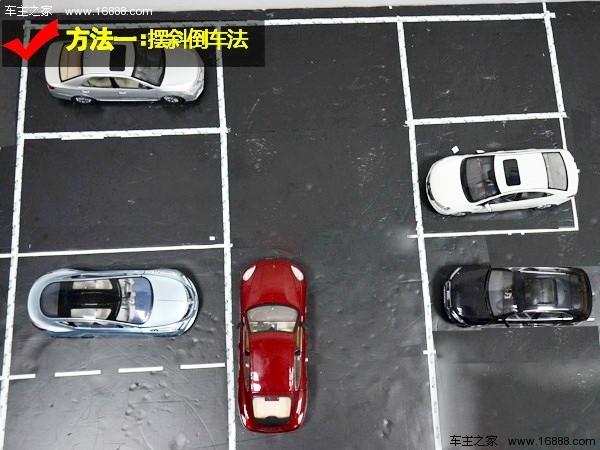 图解倒车入库技巧(2)非字型停车位