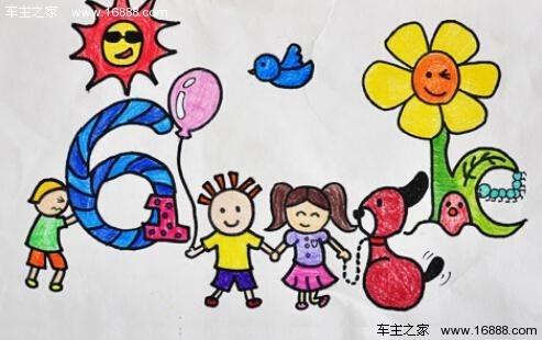 儿童画画图片六一儿童简笔画爸爸妈妈
