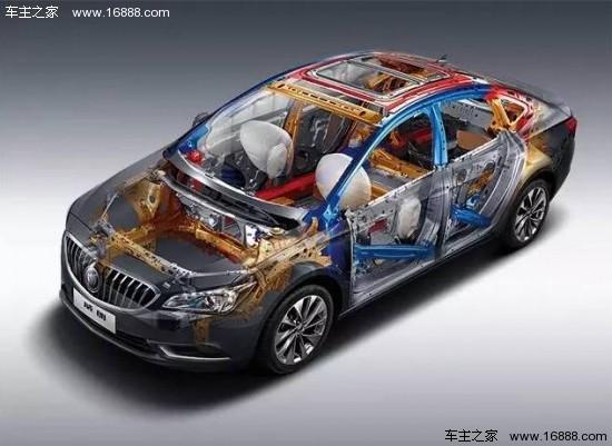 车身结构,72%高强度钢使用比例